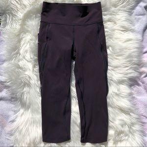 Lululemon Purple Capris Leggings